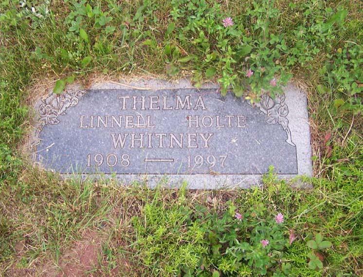 Thelma Mae <i>Linnell</i> Whitney