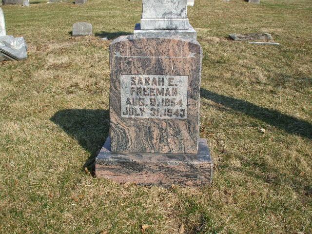 Sarah E. <i>Tillett</i> Freeman