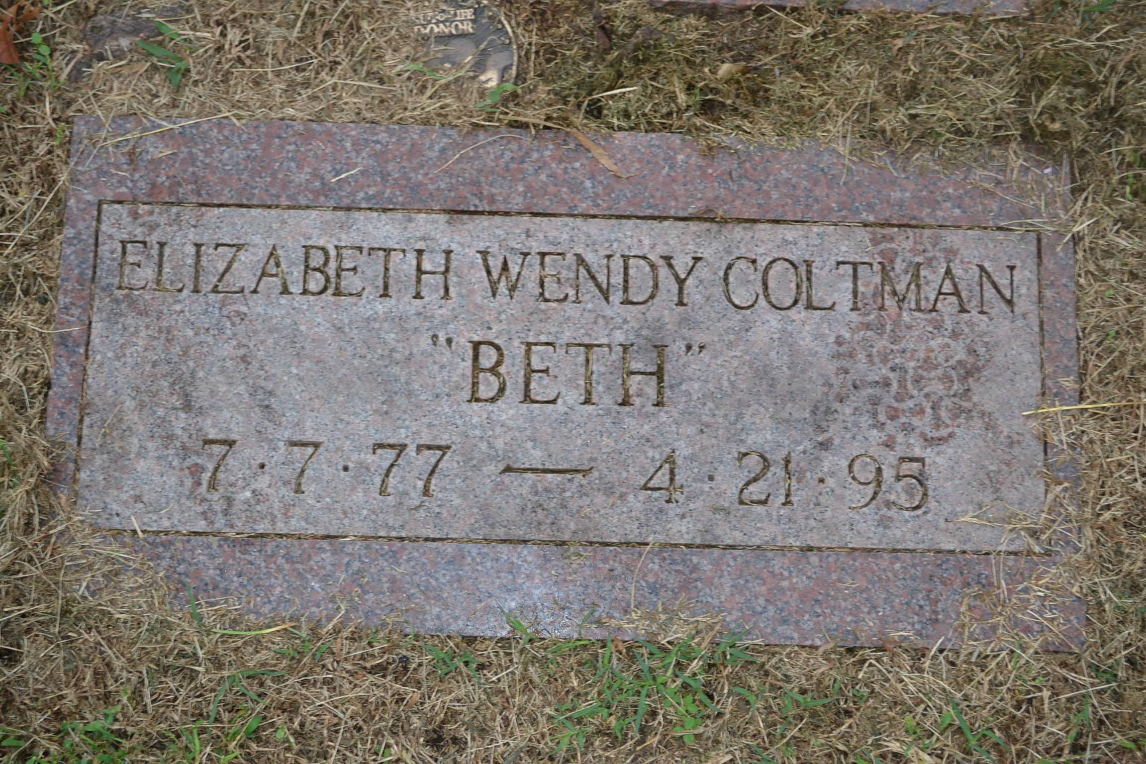 Elizabeth Wendy Beth Coltman
