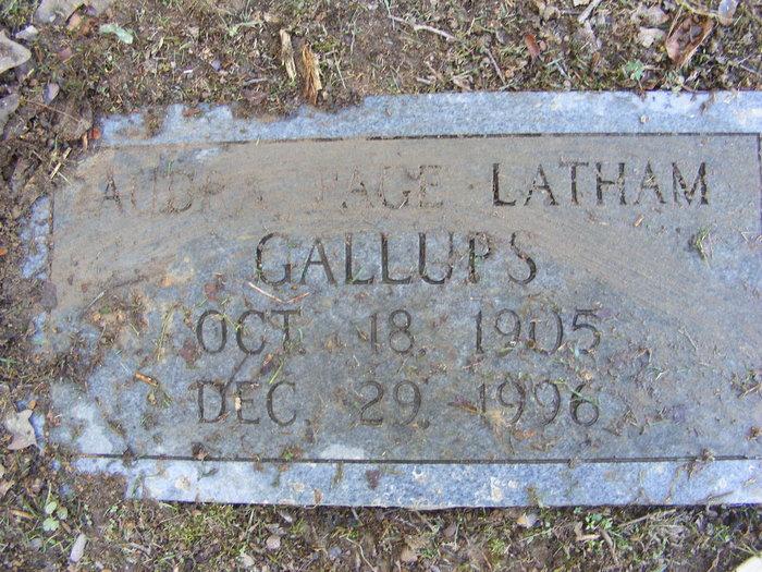 Audra Page <i>Latham</i> Gallups