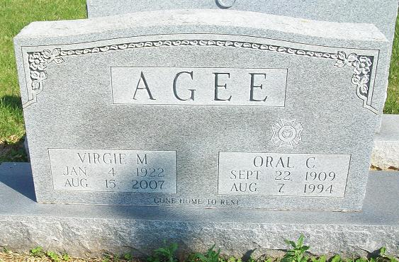 Virgie M. <i>Clark</i> Agee