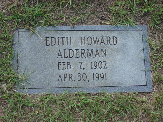 Edith <i>Howard</i> Alderman
