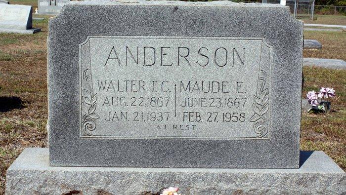 Maude E <i>McKewen</i> Anderson