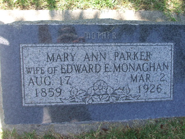 Mary Ann <i>Parker</i> Monaghan