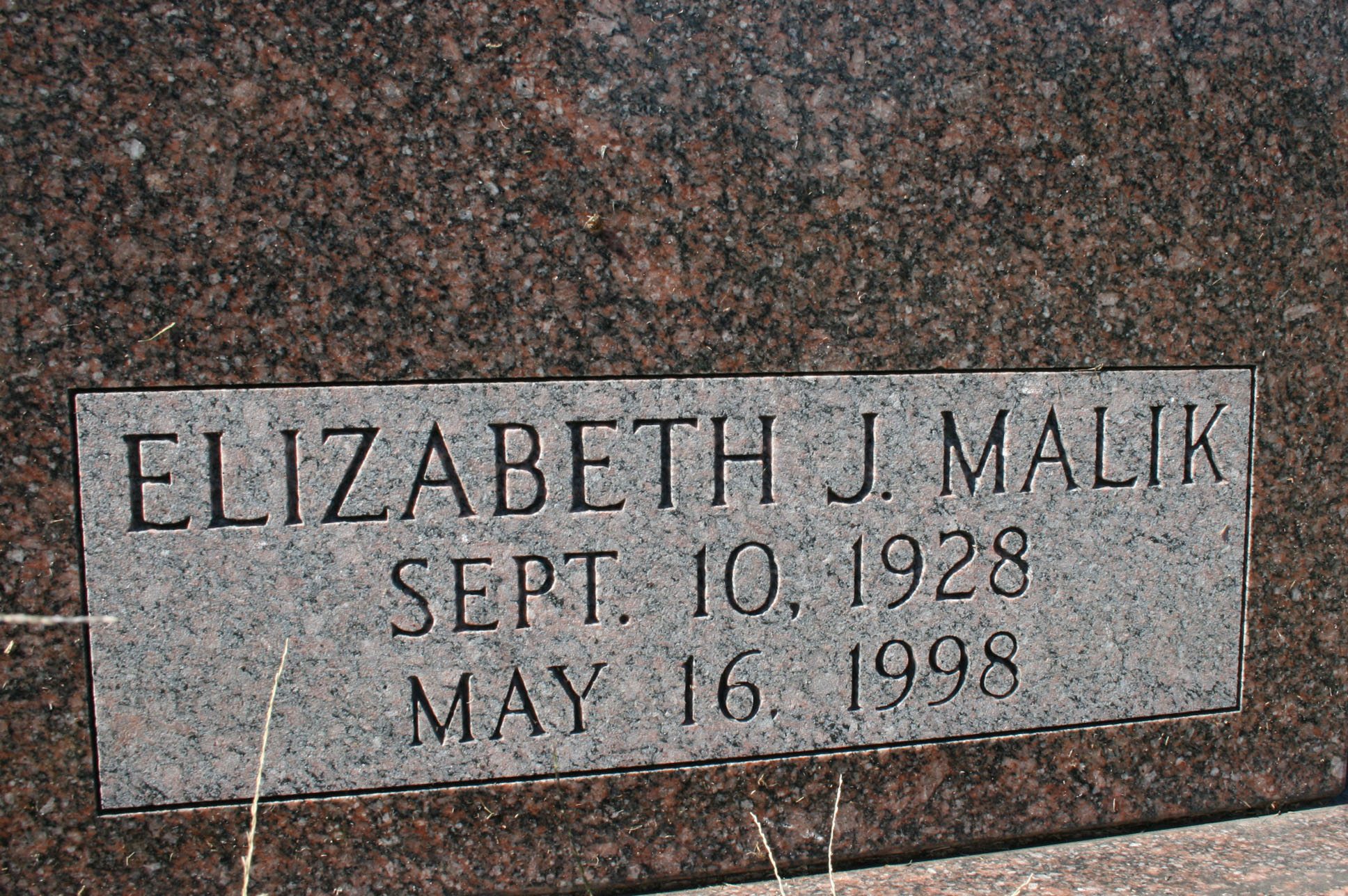 Elizabeth J <i>Malik</i> Edwards