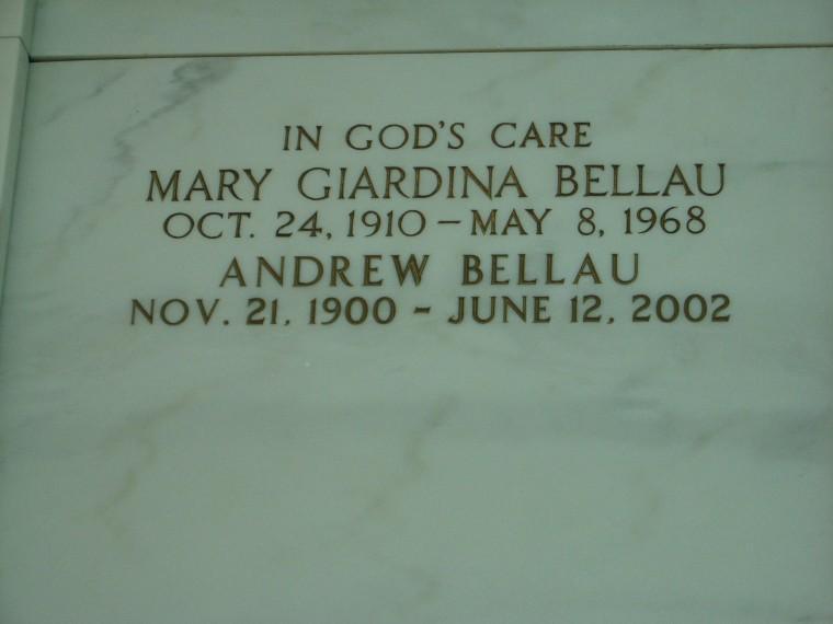 Mary Theresa <i>Giardina</i> Bellau
