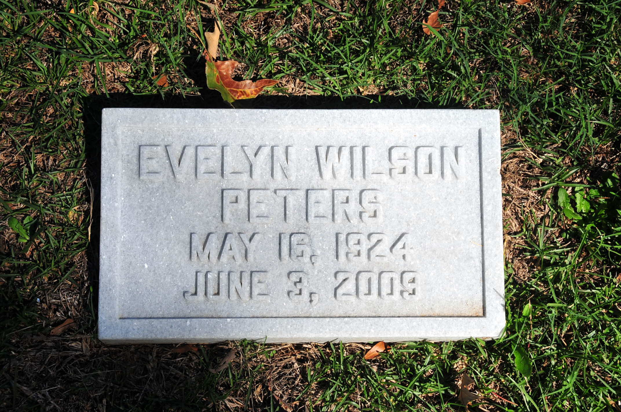 Evelyn <i>Wilson</i> Peters