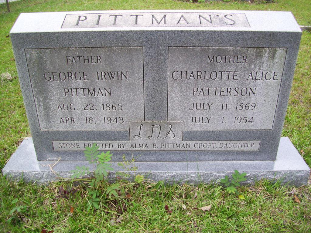 Charlotte Alice <i>Patterson</i> Pittman