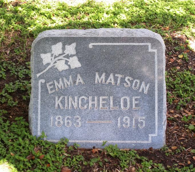 Emma D. <i>Matson</i> Kincheloe