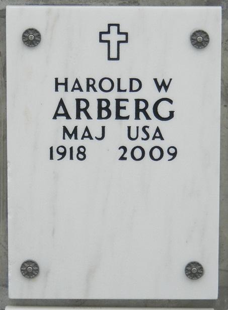 MAJ Harold Walton Bud Arberg, Sr