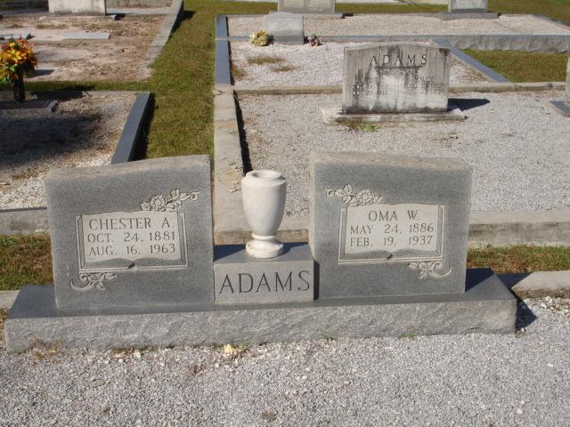 Rev Chester Arthur Adams