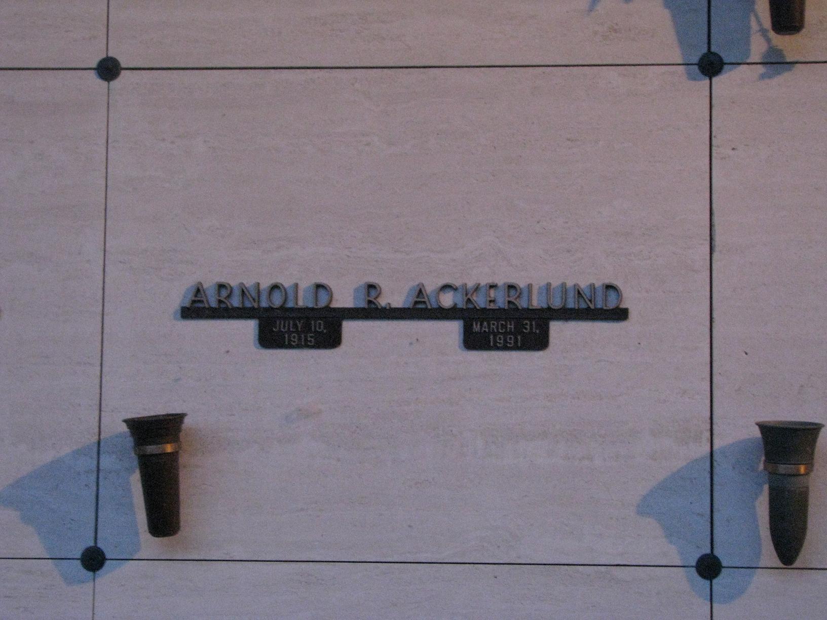 Arnold R Ackerlund