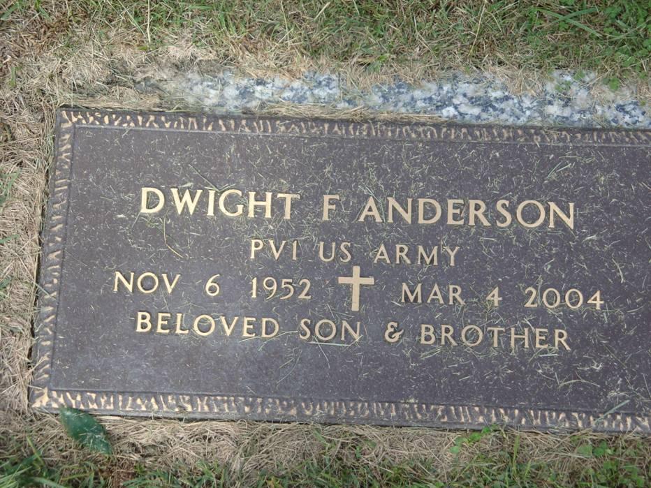 Dwight F Anderson