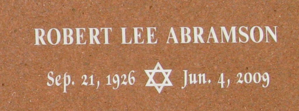 Robert Lee Abramson