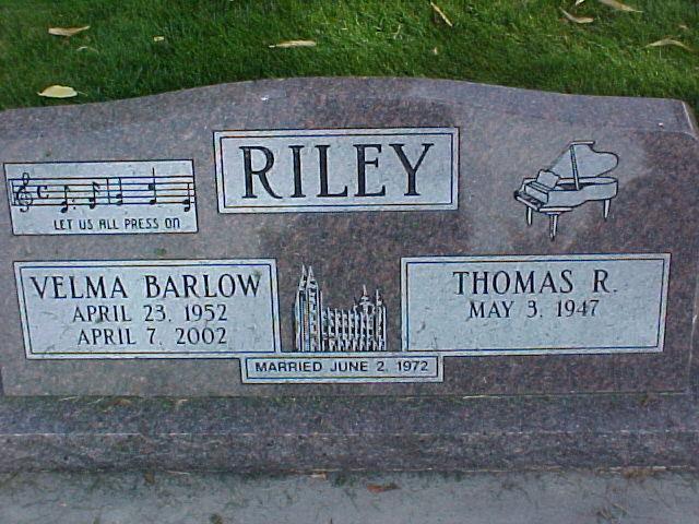 Velma <i>Barlow</i> Riley