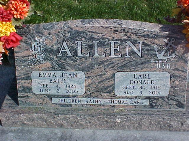 Emma Jean <i>Bates</i> Allen
