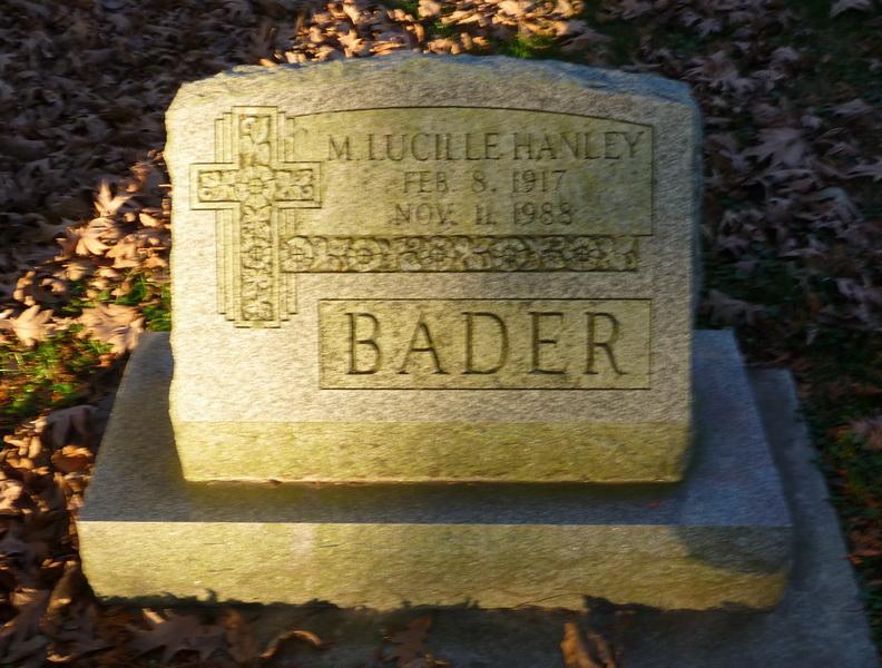 M. Lucille <i>Hanley</i> Bader