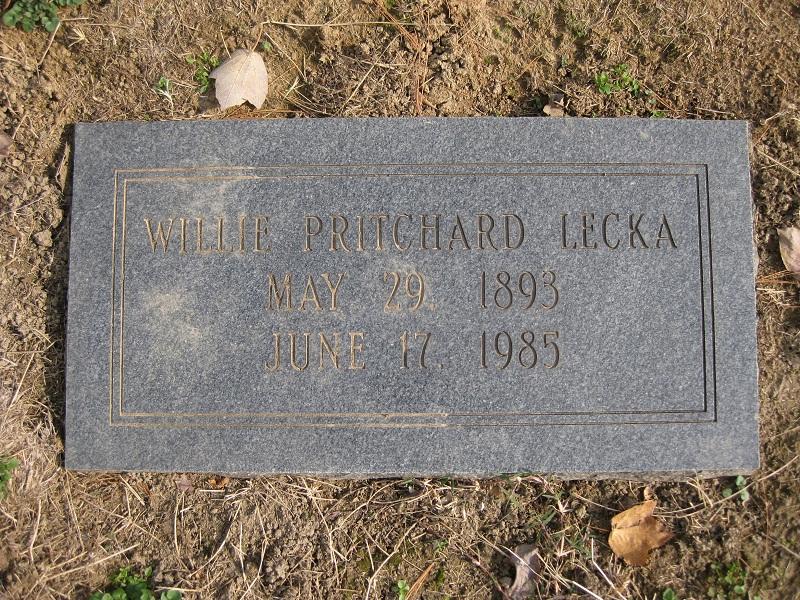 Willie Gray <i>Pritchard</i> Lecka