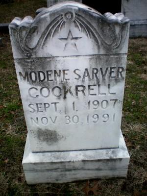 Modene <i>Sarver</i> Cockrell