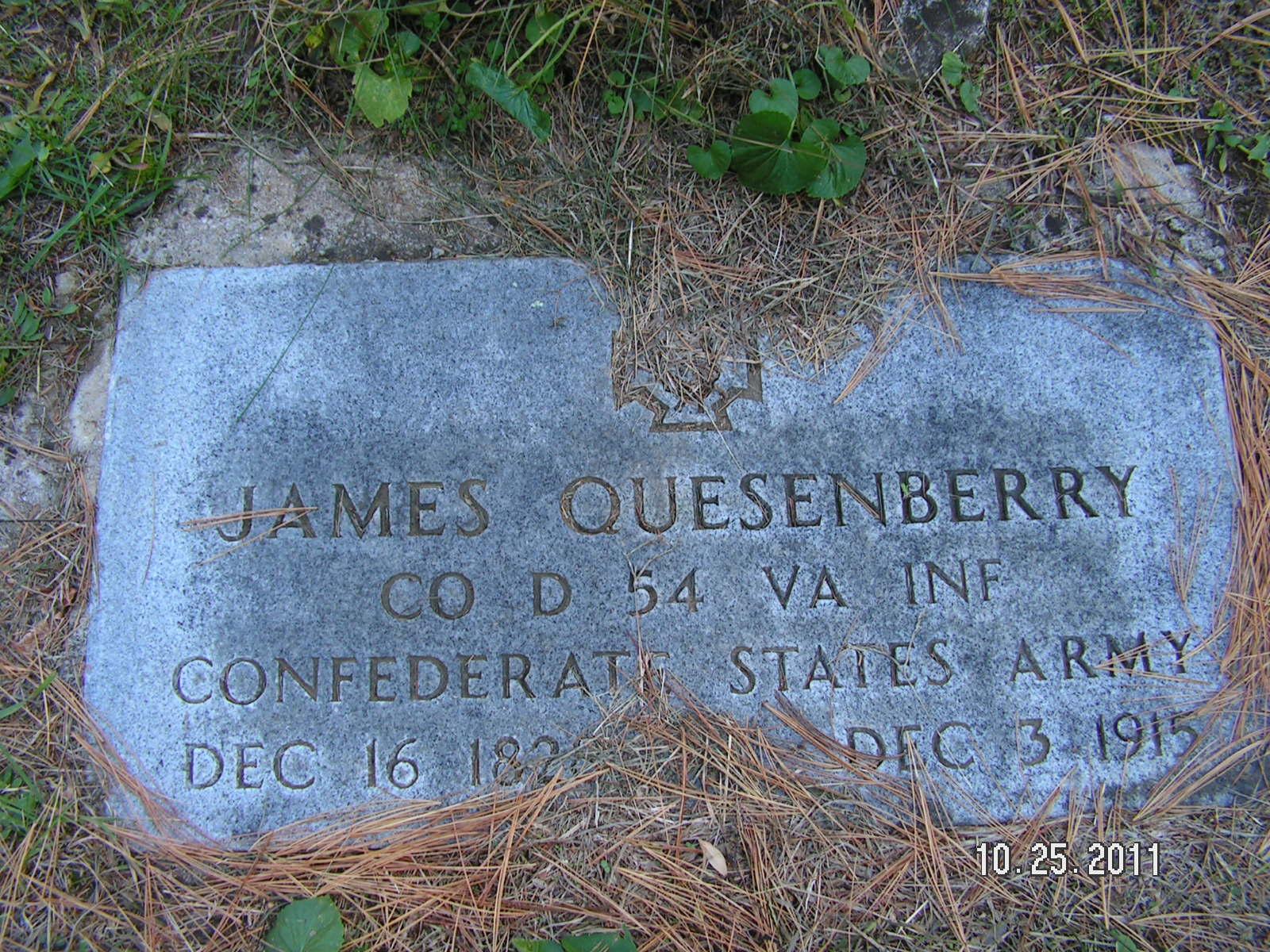 James Quesenberry (1828-1915) - Find A Grave Memorial