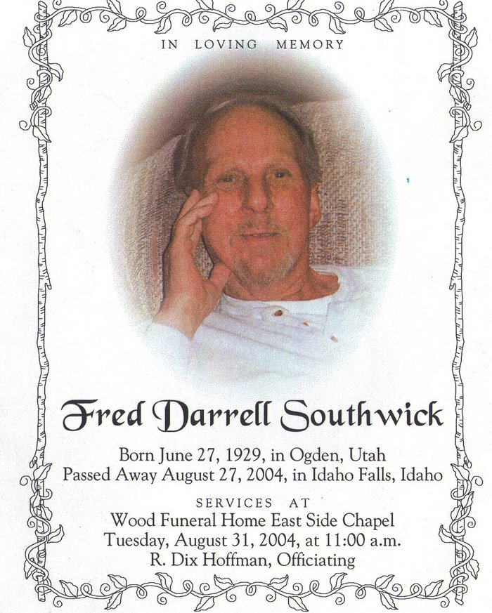 Fred Darrell Southwick (1929-2004) - Find A Grave Memorial