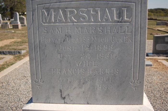Frances Mauzee <i>Harris</i> Marshall