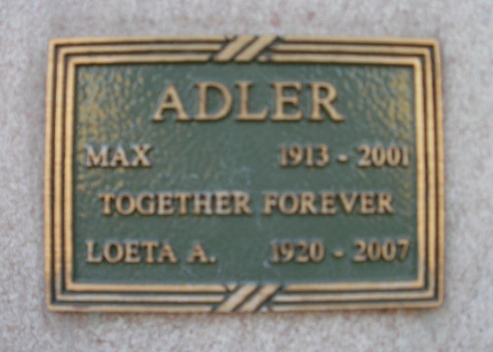 Loeta A. <i>Bennett</i> Adler