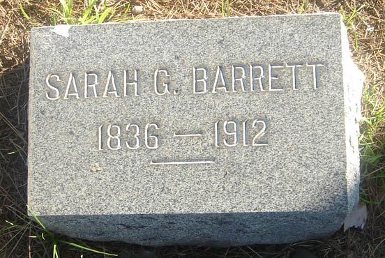 Sarah <i>Goodell</i> Barrett