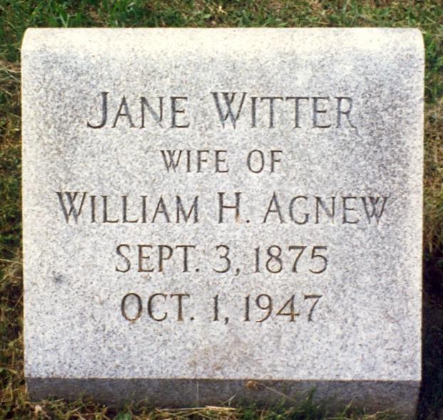 Jane Frances <i>Witter</i> Agnew