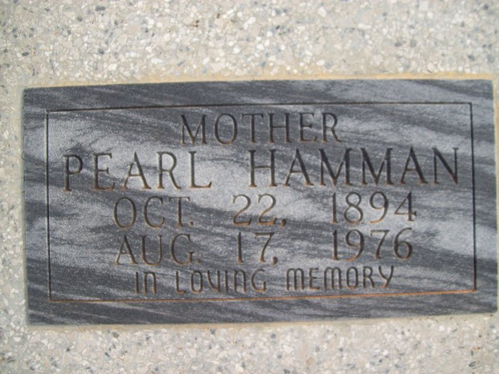 Pearl E. <i>Franks</i> Hamman