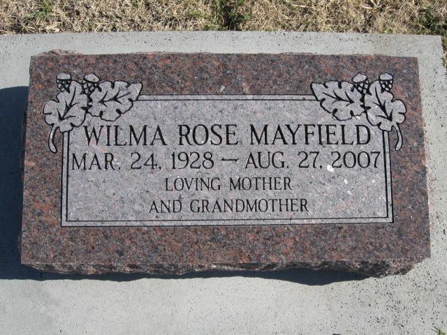 Wilma Rose <i>Davis</i> Mayfield
