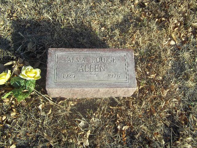 Alma Louise <i>Vanderpool</i> Allen