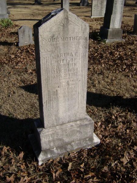 Martha Frances <i>Hicks</i> Brown
