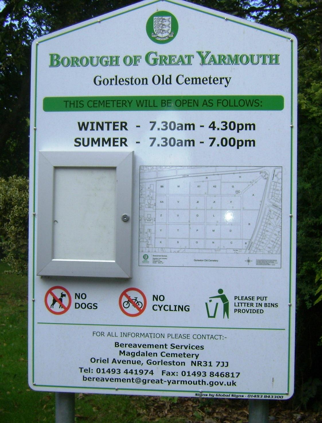 Gorleston Cemetery in Gorleston on Sea, Norfolk - Find A Grave Cemetery