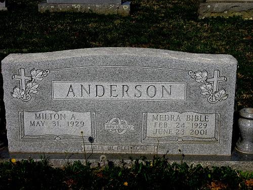 Medra Delois <i>Bible</i> Anderson