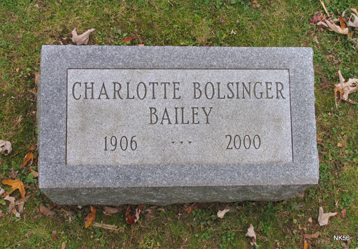 Charlotte Marie <i>Bolsinger</i> Bailey