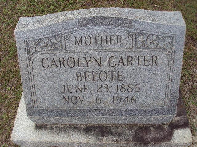 Carolyn <i>Carter</i> Belote