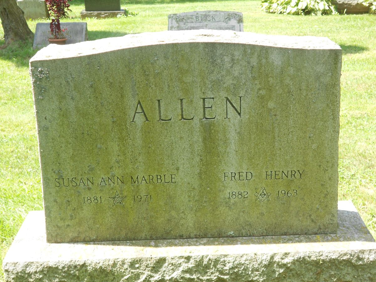 Susan Ann <i>Marble</i> Allen