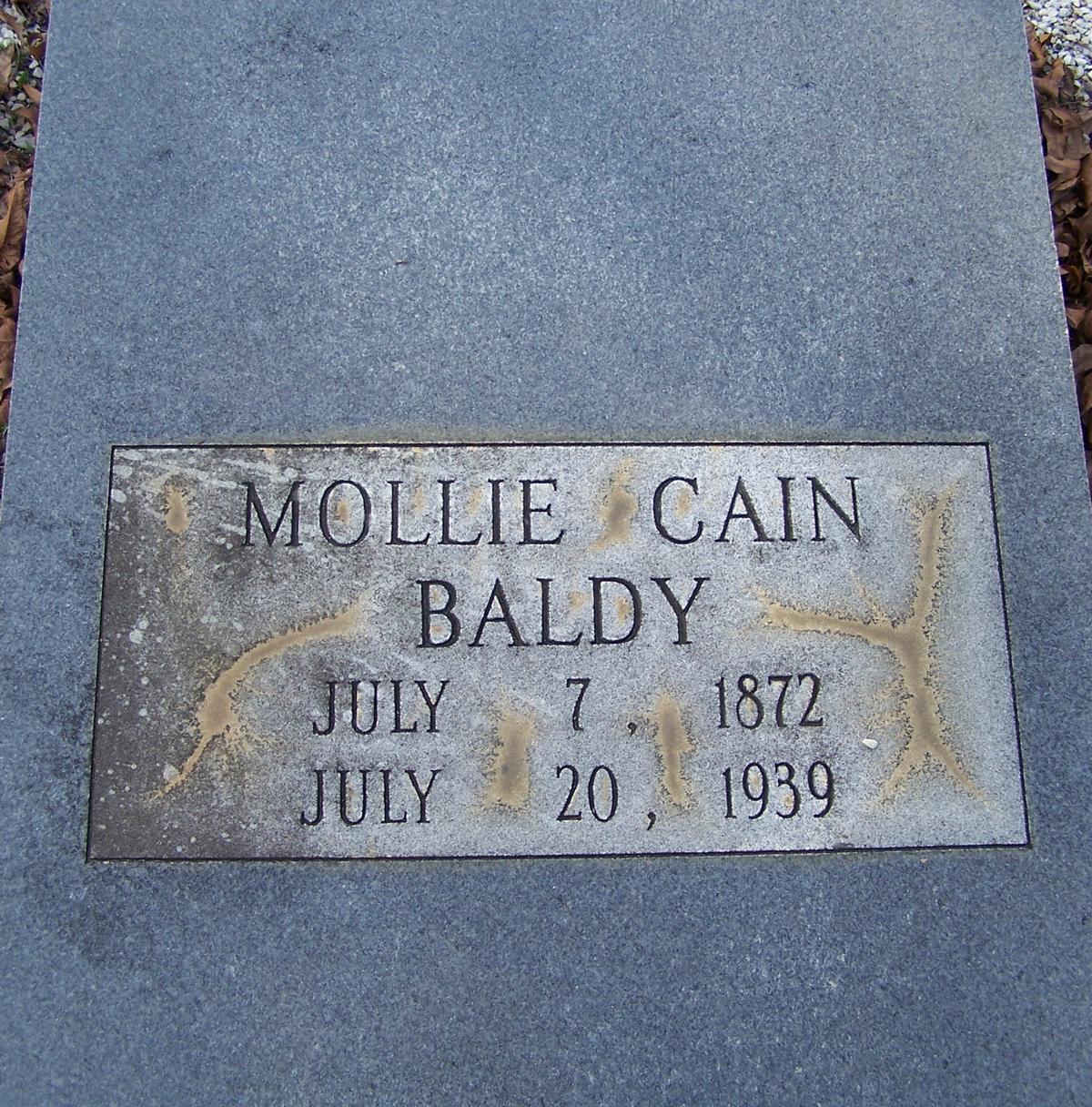 Mollie <i>Cain</i> Baldy
