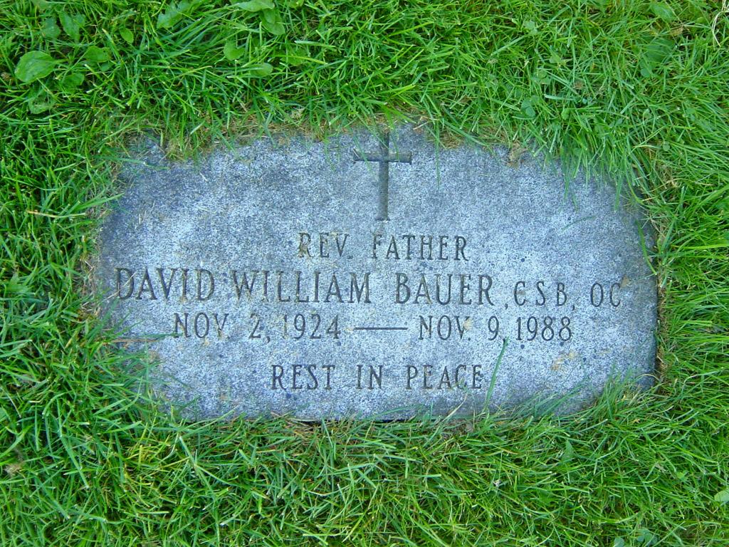 Fr David William Bauer (1924-1988) - Find A Grave Memorial
