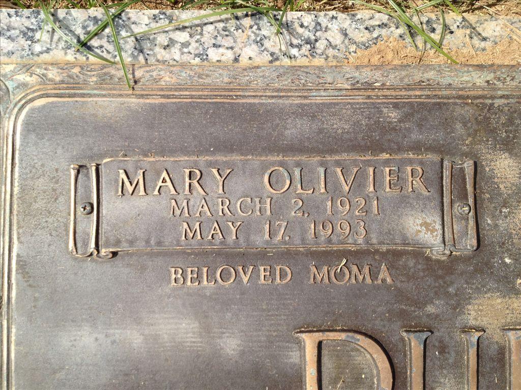 Mary <i>Olivier</i> Dufilho