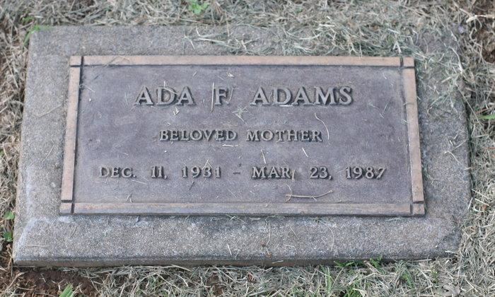 Ada F. <i>Maurer</i> Adams