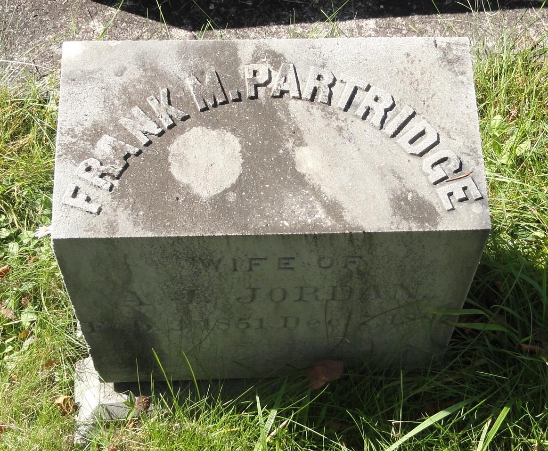 Frank M. <i>Partridge</i> Jordan