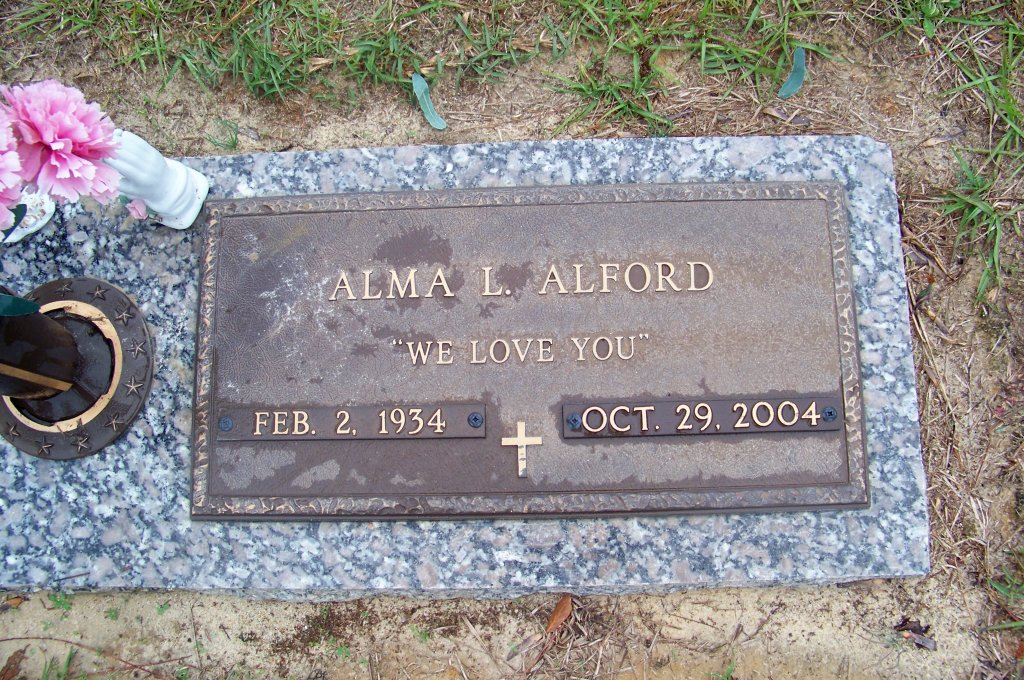 Alma L <i>Andrews</i> Alford