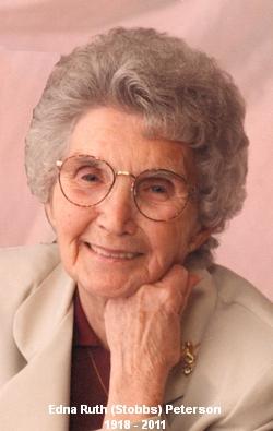 Edna Ruth <i>Stobbs</i> Peterson