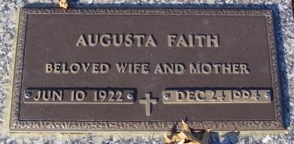 Augusta <i>Williams</i> Faith