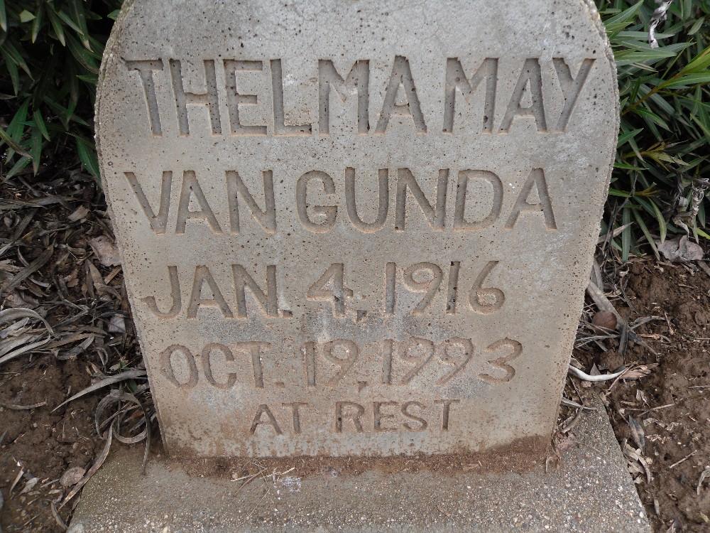 Thelma May <i>Mitchell</i> Van Gunda