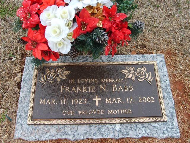 Frankie N <i>Penland</i> Babb