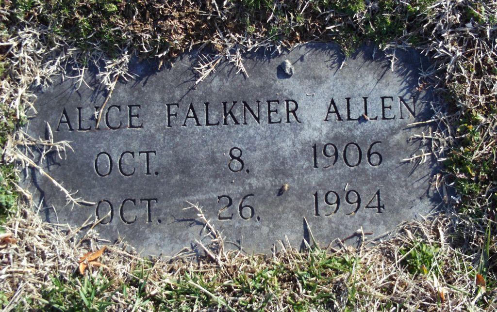 Alice <i>Falkner</i> Allen