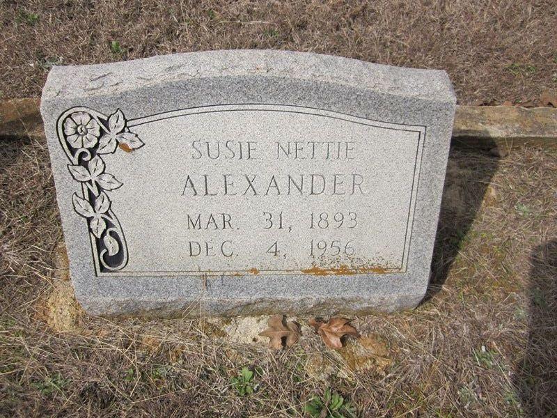 Susie Nettie Jane <i>Weaver</i> Alexander